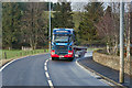 NT0234 : HGV on the A702 at Coulter by David Dixon