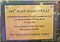 TM2683 : Mid-air collision memorial plaque by Adrian S Pye