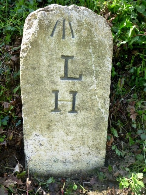Old Milestone by the B3254, south of Trussel Bridge