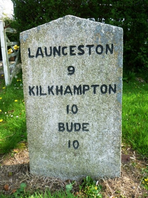 Old Milestone by the B3254 in Street