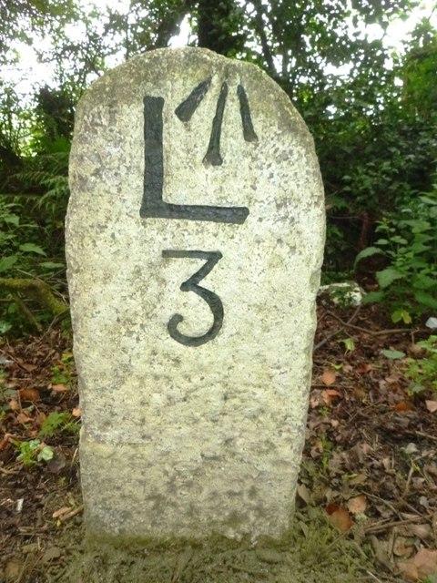 Old Milestone east of Egloskerry
