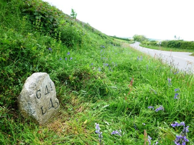 Old Milestone by the A390, west of St Ive