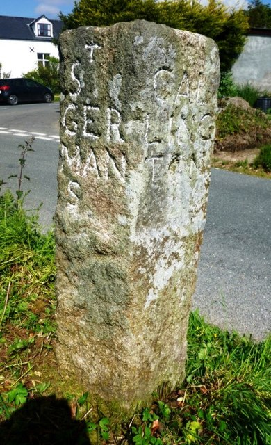 Old Guide Stone at Charaton Cross