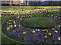 SE2633 : Flower garden, Armley Park by Stephen Craven