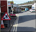 ST3189 : Warning sign - roadworks, Albany Street, Crindau, Newport by Jaggery