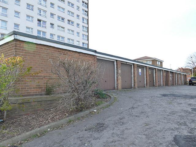 Lock-up garages, Eden Mount