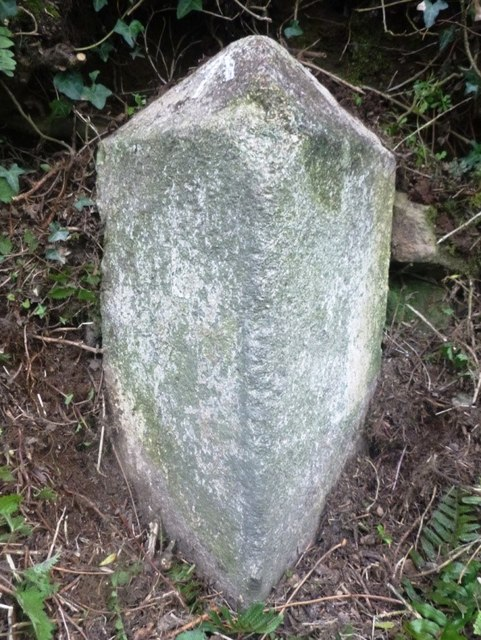 Old Milestone by the A388, south of Penpill Farm