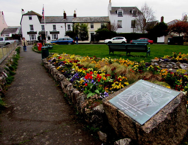 Shaldon & Ringmore Silver Jubilee plaque in Shaldon