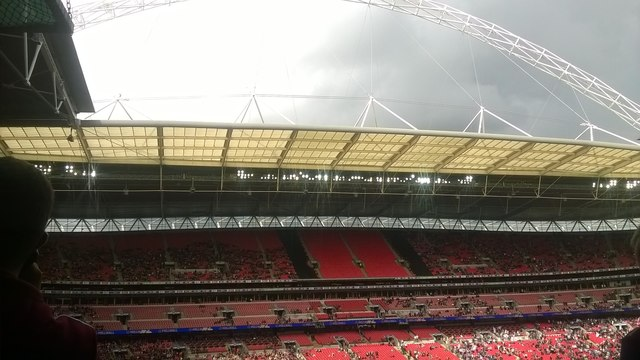 Wembley Stadium: north stand and the arch