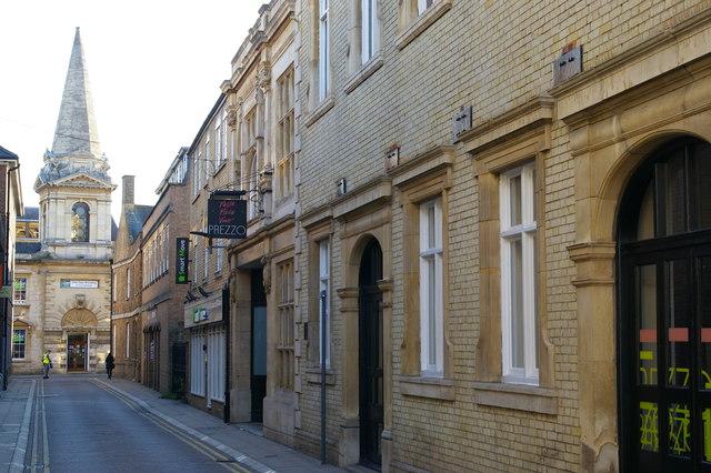 Peterborough: looking south down Cross Street