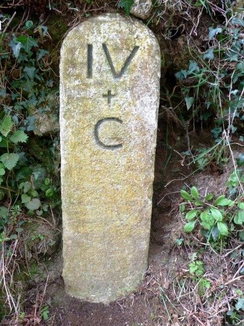 Old Milestone north of Kingston