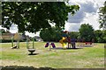 SP3508 : Children's Play Area, adjacent to Witney Road, Ducklington, Oxon by P L Chadwick