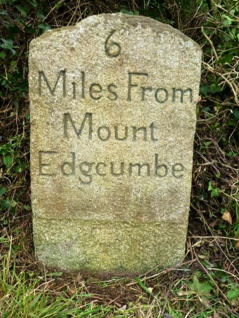 Old Milestone by the B3247, east of Crafthole
