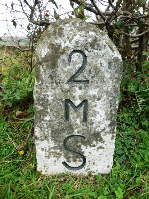 Old Milestone by the A38, north west of Whity Cross