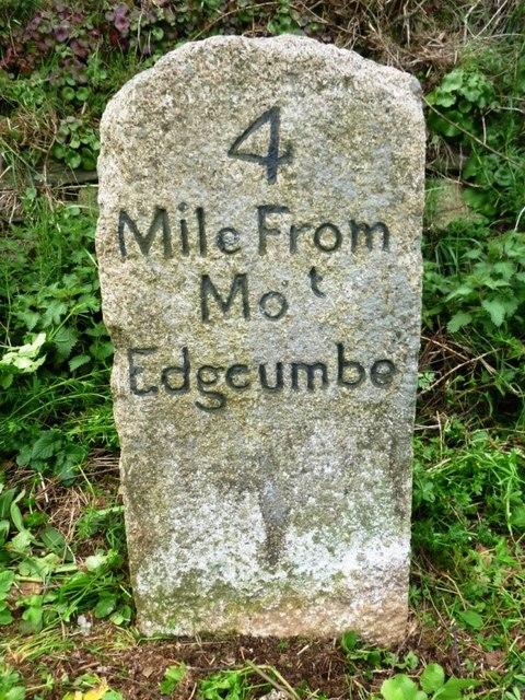 Old Milestone by the B3247, South of St John