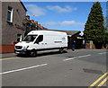ST3089 : EDB white van, Brynglas Road, Newport by Jaggery