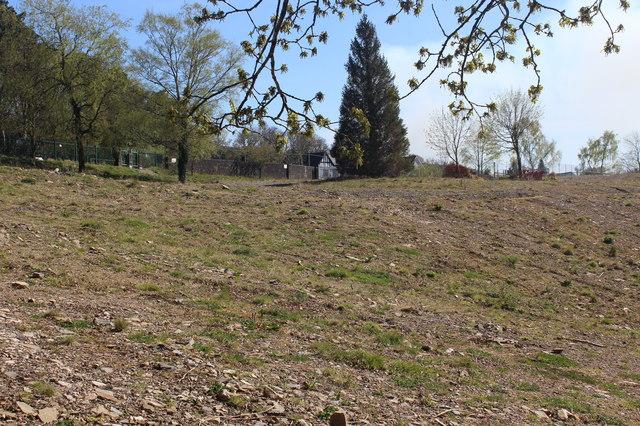 Hillside site of former Oakdale Comprehensive School