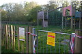 TM3763 : Closed playground, Coronavirus pandemic, Saxmundham by Christopher Hilton