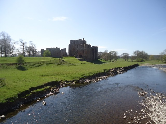 The River Eamont and Brougham Castle