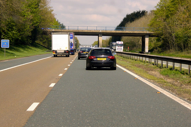 A67 Bridge over the A1(M) near to Low Coniscliffe
