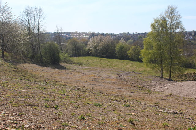 Cleared site of Oakdale Comprehensive School