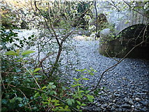 J3731 : Exposed pebbly bed of the Shimna River at the New Bridge by Eric Jones