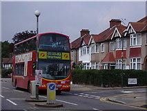 TQ2087 : 83 bus on Church Lane, Kingsbury by David Howard