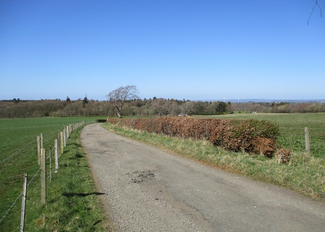 Road between Woodhead and Blackwood House