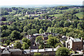 NZ2741 : South Bailey area of Durham from tower of Durham Cathedral by Colin Park