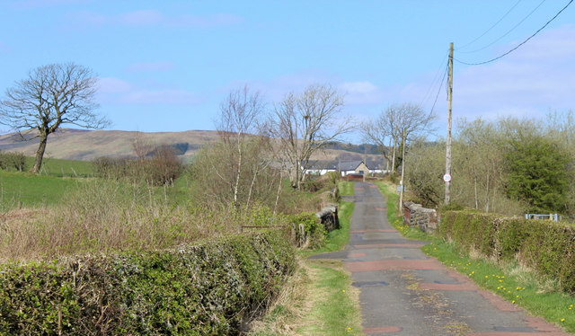 Farm track off the A760