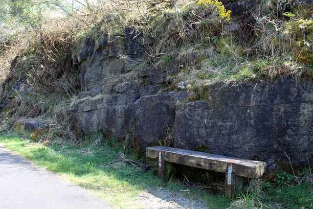 Bench by the Lochwinnoch Loop Line cycle path