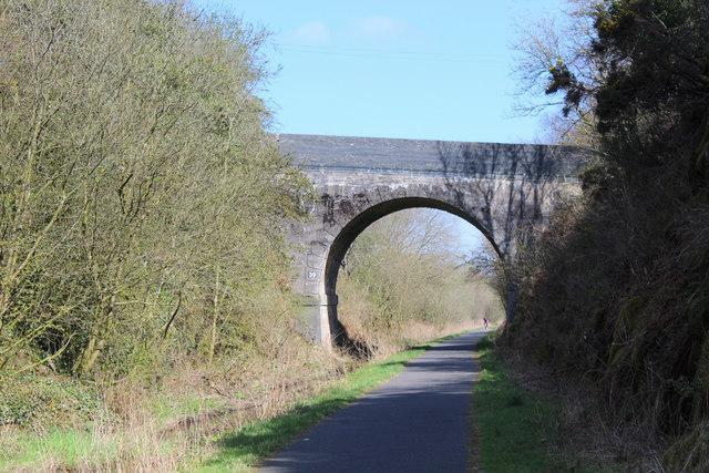 Bridge over the Lochwinnoch Loop Line cycle path