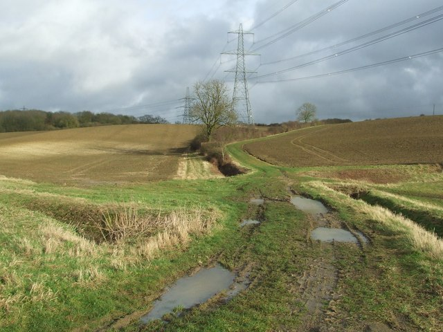 Footpath And Pylons