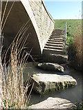 NZ3573 : Stepping Stones and Steps, Brierdene Burn, Whitley Bay by Geoff Holland