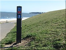 NZ3573 : Signage near Brierdene Burn, Whitley Bay by Geoff Holland