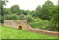 SO5374 : Wall by Ledwyche Pool by Derek Harper