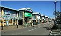 TQ8788 : Southend Airport Retail Park, Rochford Road by David Kemp