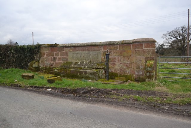 Memorial Drinking Trough And Water Pump