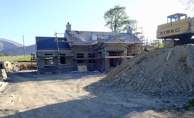 House under construction on Middle Tollymore Road