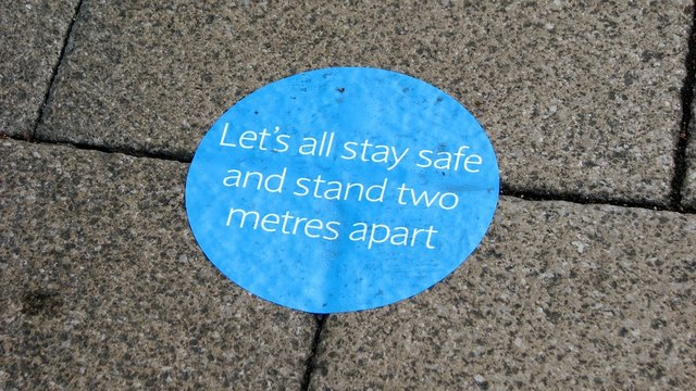 Let's all stay safe and stay two metres apart