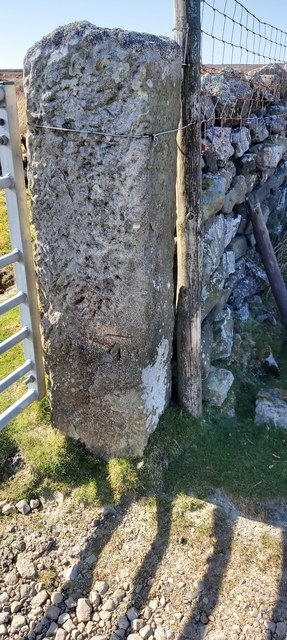 Benchmark on Gatepost Harry Cross Edge