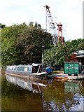 SJ8934 : Canal boatyard in Stone, Staffordshire by Roger  Kidd