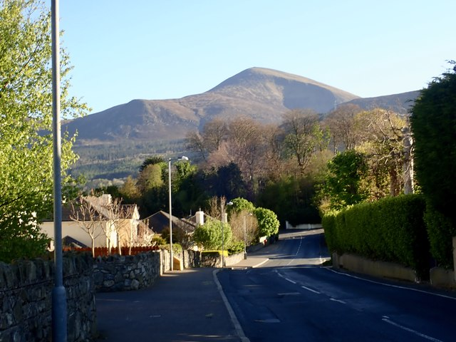 Slieve Donard from the southern end of Tollymore Road