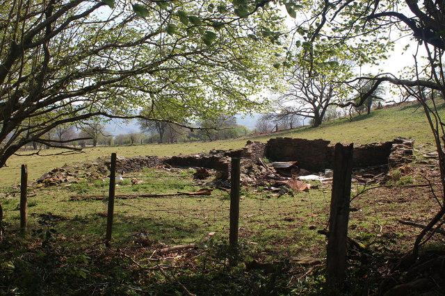 Ruins of farm building