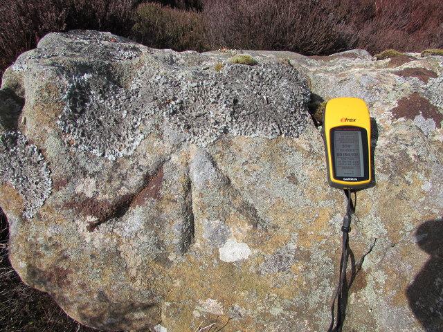 Close Up of Benchmark at Hambleton Crags