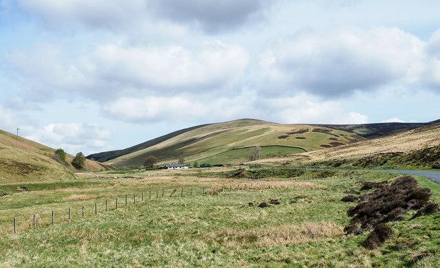 Flat land beside Middle Burn