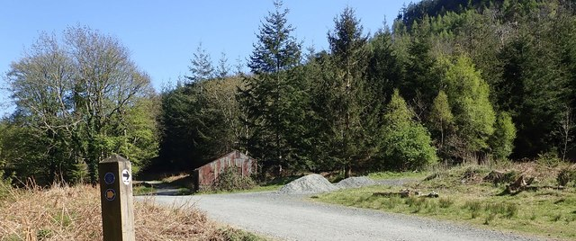 NI Forestry Service shed in Tollymore Forest