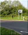 ST2993 : Direction & distances sign alongside the A4051 Cwmbran Drive, Llantarnam, Cwmbran by Jaggery