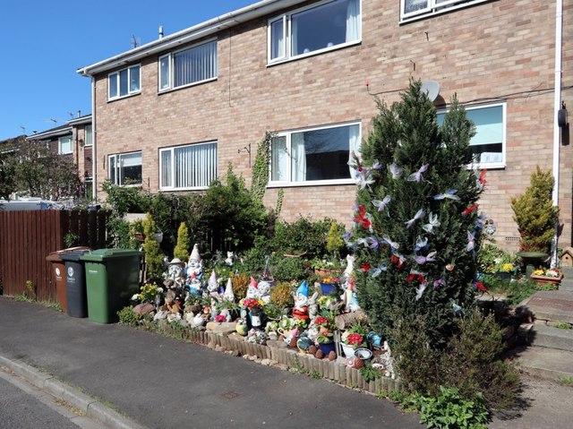 Gnome garden, Dene Road, Wylam