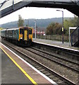 SO4383 : Shrewsbury train arriving at Craven Arms station by Jaggery